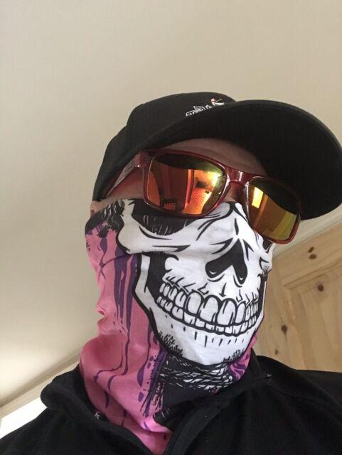 Skull Face Mask Ski Cycle Biker BMX Paintball Bandana Neck Tube Scarf Snood Balaclava