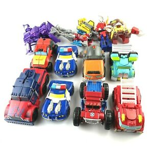 Hasbro Playskool Heroes Transformer Rescue Bots Figures Toy Car Lot Of 13 Pieces