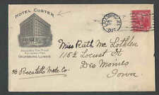 1927 Cover Hotel Custer Galesburg Il