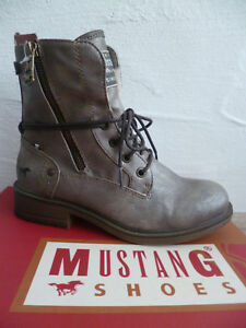 detailed look 87757 29f00 Details about Mustang Ankle Boots Lace up Boots Boots Winter Boots New