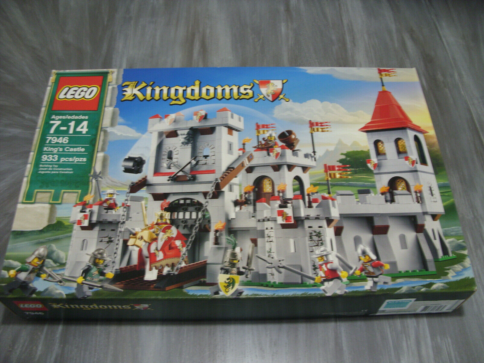 Lego Kingdoms  7946 Castillo Del Rey Nuevo Y Sellado De 933 Piezas