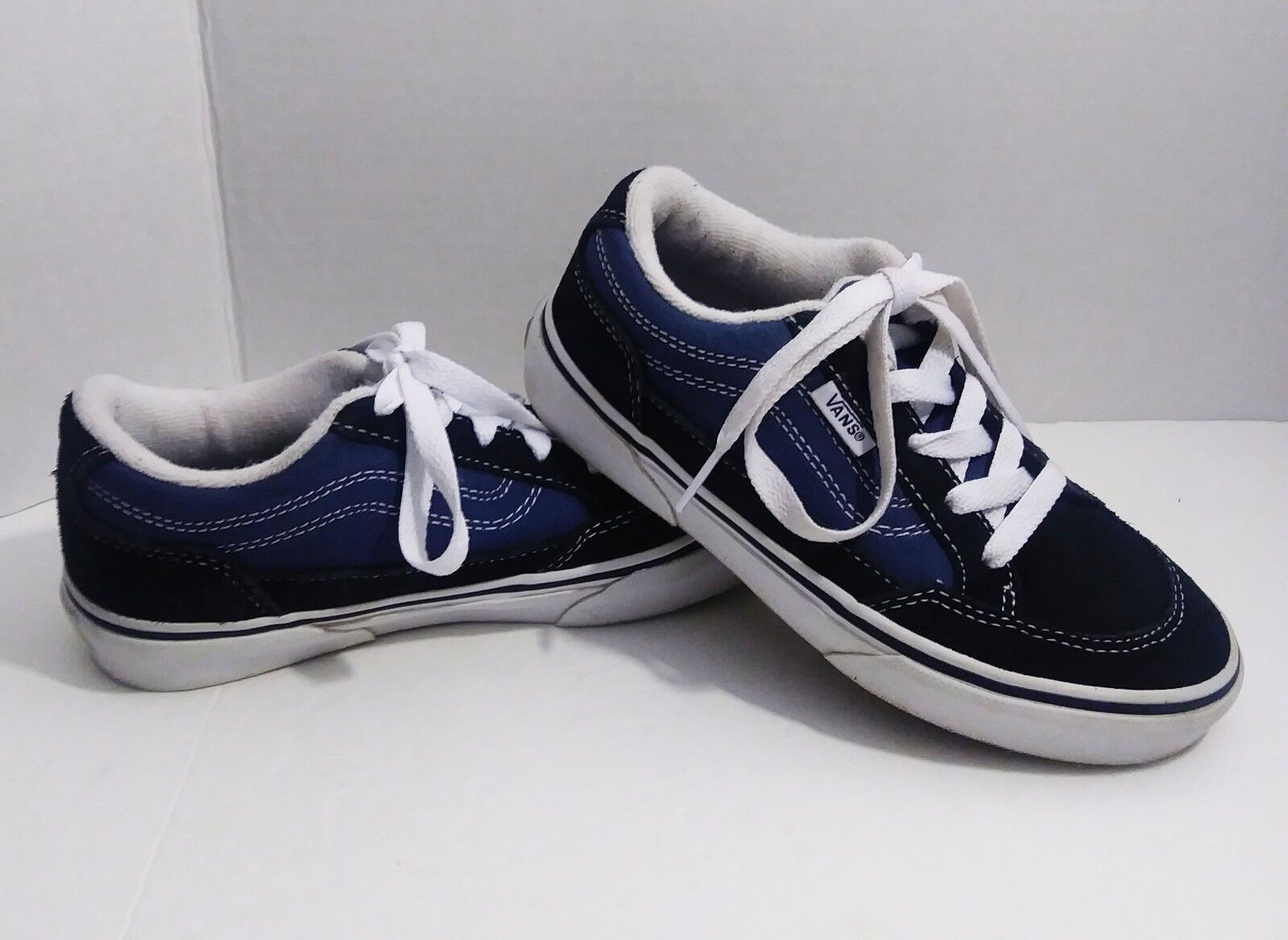 Vans Old Skool Pro Off the Wall (Navy Navy/White) Boys Skate Shoes - Size 1