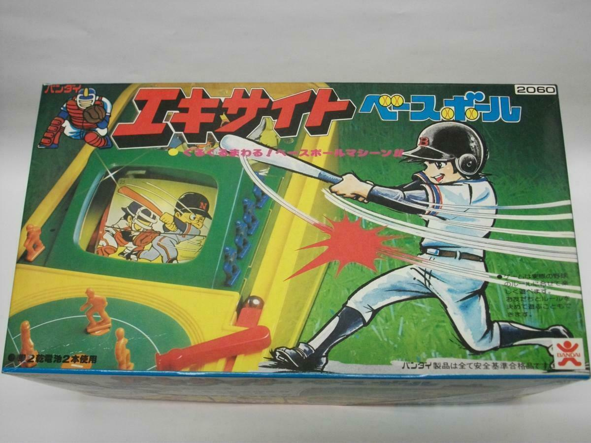Bandai Excite Béisbol Pilas Vintage Juego de Mesa de Japón F   S