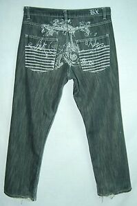 Paint-EMBELLISHED-Backside-Relaxed-Classic-Rise-BROOKLYN-XPRESS-Jeans-34-30