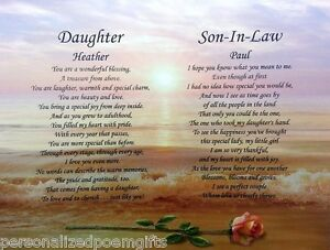 Image Is Loading Daughter Amp Son In Law Personalized Poem Wedding