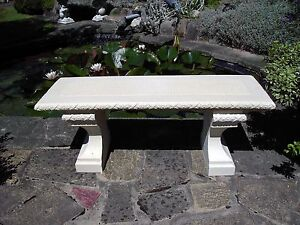 Stupendous Details About Stone Garden Bench Rustic Bench Garden Chair Furniture Patio Outdoor Bench Gmtry Best Dining Table And Chair Ideas Images Gmtryco