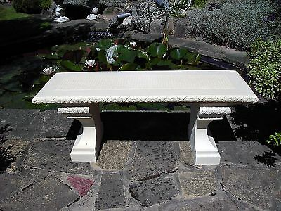 Stone Garden Bench Rustic