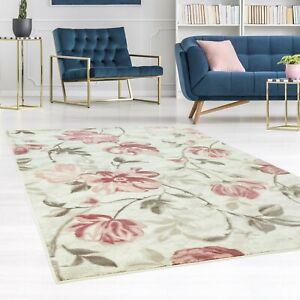 Teppich-Modern-Designer-Wohnzimmer-Inspiration-Floral-Pastellfarben-Pink-Blau