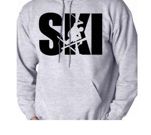 Ski-Skier-Winter-Sport-Snow-Mountains-Men-039-s-Sweatshirt-Hooded-Shirt-Hoodie-Gift