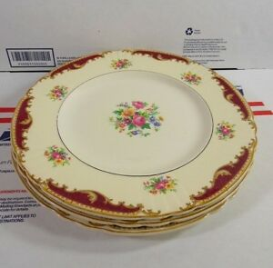 Image is loading MYOTT-by-Staffordshire-England-Dorothy-9-7-8- : 8 dinner plates - pezcame.com