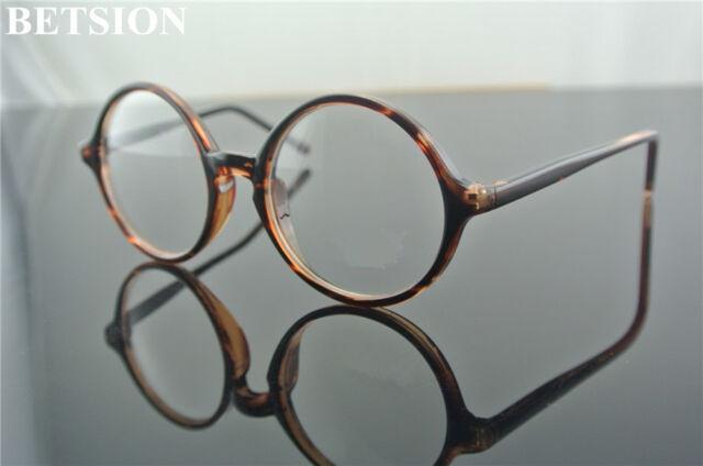5ba8763e2 Vintage Round Tortoise Eyeglasses Frames Full Rim Glasses Eyewear Rx able