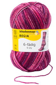 7,30€//100g Regia Sockenwolle 150g  6fädig Color Farbe 04911 burgunder