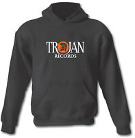 Trojan Ska Reggae 2 Tone Jamaican Heavy Cotton Blend Hoodie Sizes Small To Xxl