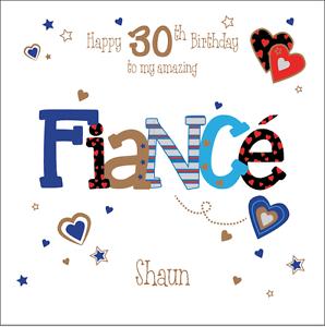 Personalised 30th Birthday Card Fiance Husband Boyfriend Any Age