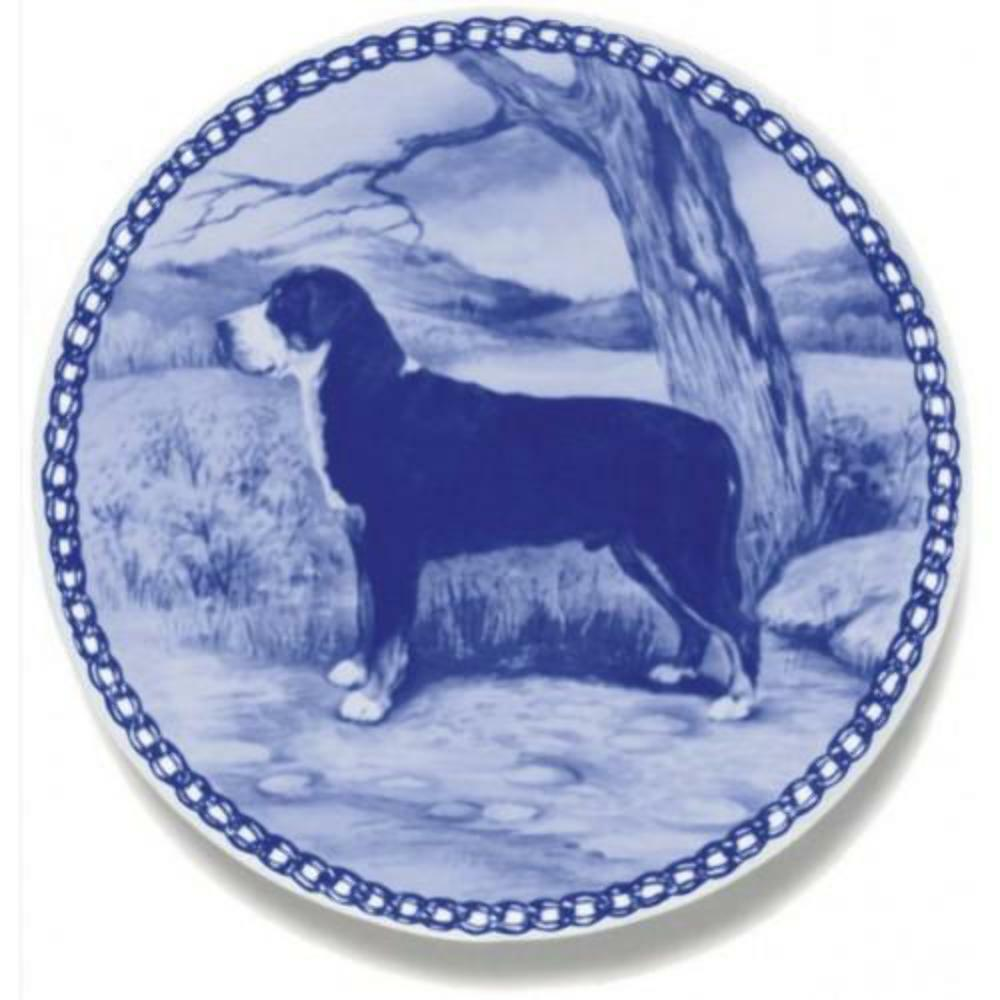 Greater Swiss Mountain Dog - Dog Plate made in Denmark from the finest European