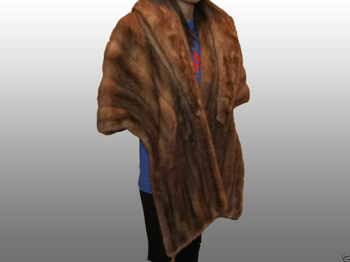 VINTAGE, MINK Fur Wrap Bolero color CHAMPAGNE sz-S M, Designed by A. J. Blatte