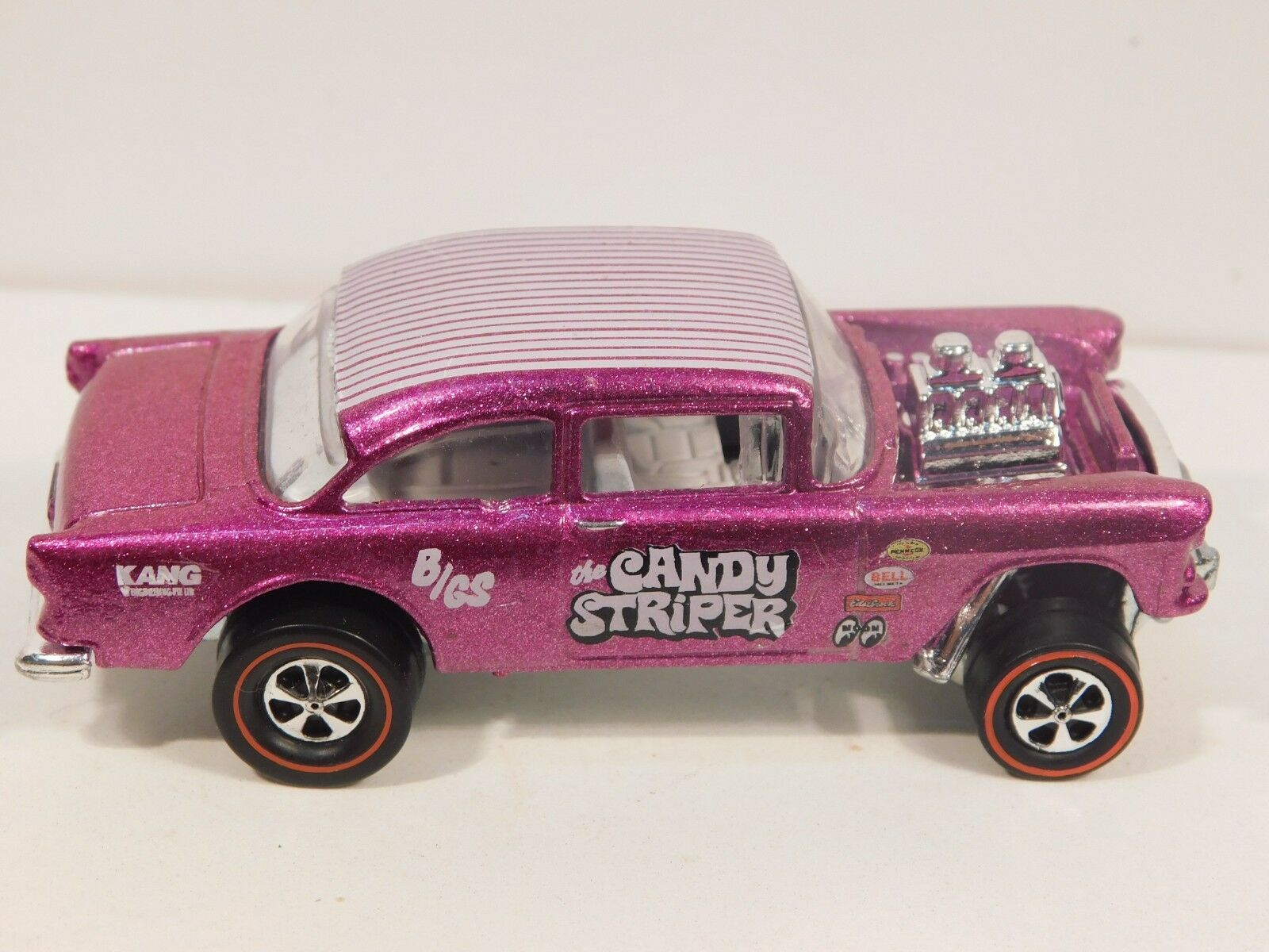 55 Chevy Bel Bel Bel Air Gasser Hot Wheels Redline Resto-Congreened Candy Striper 71c0bf
