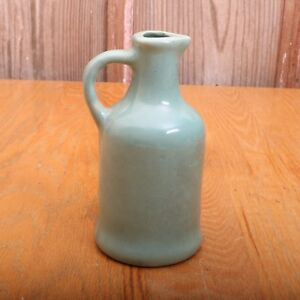 Vintage-Pottery-Pitcher-Teal-Green-Stoneware