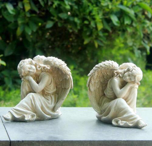 2 er Set Gartenfigur Engel 16641 Gartendeko Engelsfigur Grabdeko Figur Engels