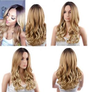 DE-Haarteile-Mittelscheitel-Volle-Peruecke-Lockig-Haar-Blond-Hairstyle-Mode-24-039-039