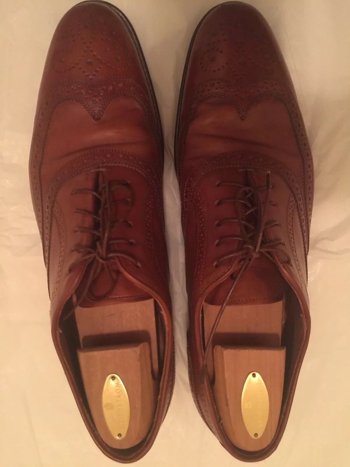 FACONNABLE CALF Wingtip Brown Dress Shoes  Size 12 12 Size Made in Italy Good Condition 49defc