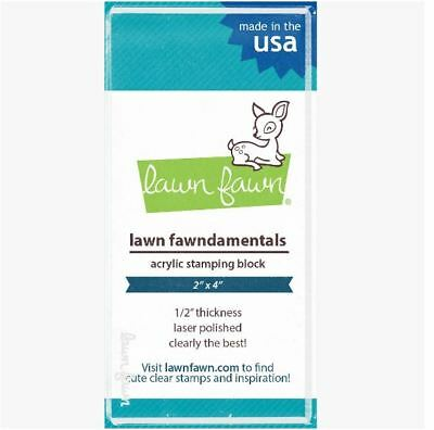 """Lawn Fawn CLEAR ACRYLIC STAMPING BLOCK ~ 2"""" x 4"""" Plain Block ~ 1/2"""" thick ~LF500"""