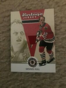 2003-04 Parkhurst Original Six Dennis Hull Chicago Black Hawks Jersey NrMt