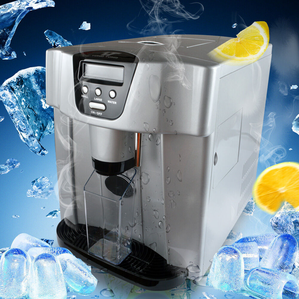 Countertop Ice Maker With Water Line Connection : Ice + Water 2-in-1 Countertop Ice Maker Compact Cube IceMaker Machine ...