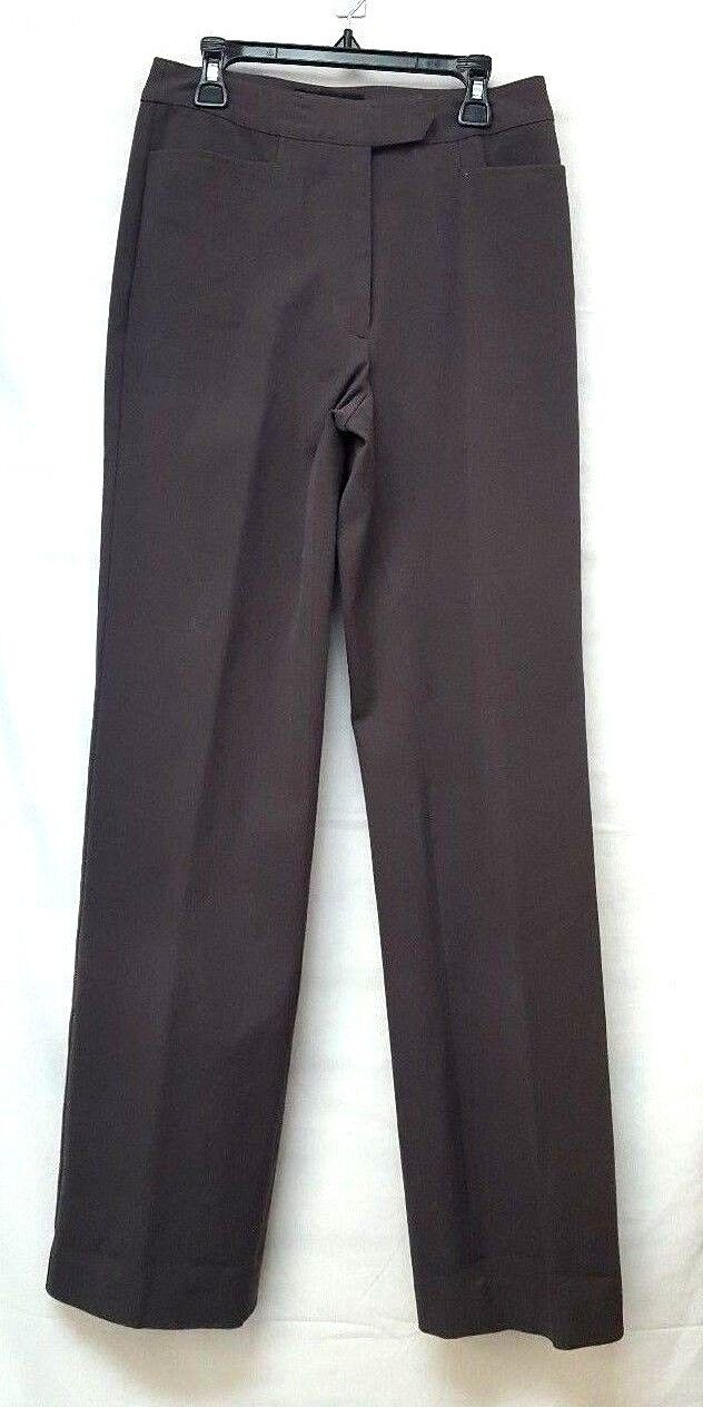NWT Women's Sz 4 Classiques Entier High Waist Twill Trouser Pants TAUPE 4SCT1782