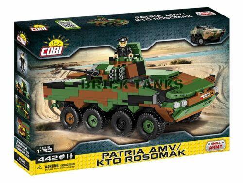 Patria AMV// KTO Rosomak COBI 2616-442 brick wheeled armoured vehicle
