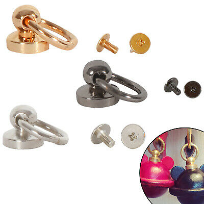 9.5mm Swivel O Ring Round Chicago Brass Stud Nail Head Ball Post Screw Rivets