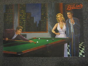 Incroyable Details About Billiards Oil Painting City Scene Pool Hall And Table Hand  Painted Match
