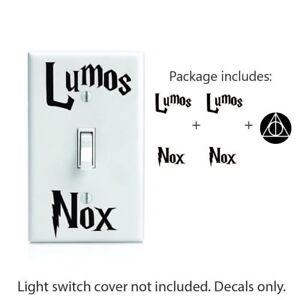 Lumos Nox Inspired 2x Light Switch And Bonus 2 Deathly Hollows