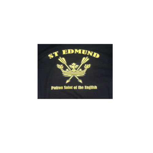 ST EDMUND T-SHIRT PATRON SAINT OF THE ENGLISH BLACK LC Patriotic - England