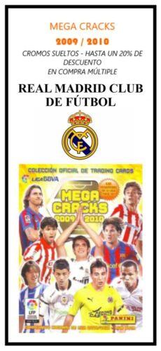 EX//NM CROMOS SUELTOS MEGACRACKS - REAL MADRID MEGA CRACKS 2009 // 2010