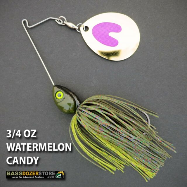 Bassdozer spinnerbaits SHORT ARM THUMPER 3/4 oz WATERMELON CANDY spinner bait