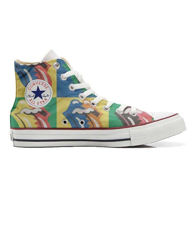 Schuhe Converse All Star Custom The Rolling Stones, artigianali Made Made artigianali in  355e5f