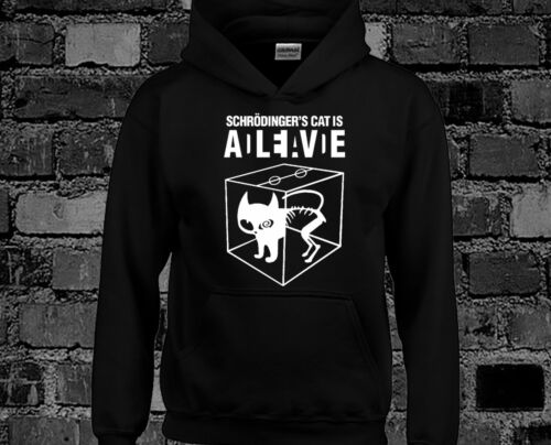 Schrodinger/'s Cat Big Bang Theory Fan Hoody Funny, Comedy, Quality Item, New
