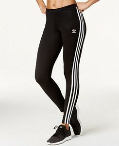 93081dffafa47 Adidas Originals Black/White 3 Stripe Women's Leggings (Medium) New ...