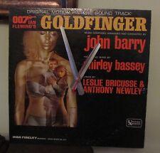 JAMES BOND-GOLDFINGER Album Clock!! Great Gift--Free Shipping!!