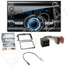 Clarion CX501E 2-DIN Radio+Mercedes C-Klasse W203 Viano Blende+Antenne Adapter