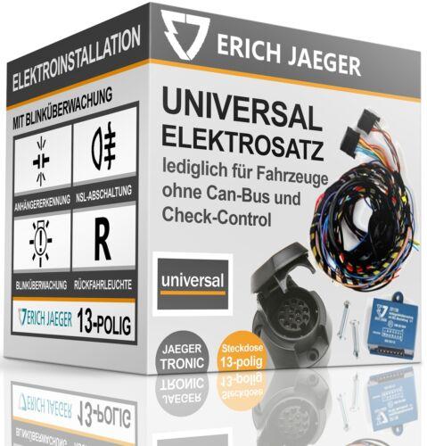 ELEKTROSATZ E-SATZ 13-polig für Anhängerkupplung UNIVERSAL MIT BLINKÜBERWACHUNG