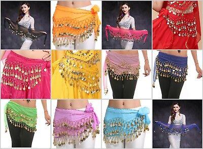 $3 each-Wholesale 120 Chiffon Sash Skirt Belly Dance Hip Scarf Wrap Belt Coin