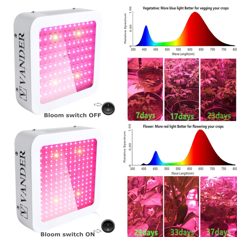 Vander 1500W  LED Grow Light kits Full Spectrum UV for Indoor plants Medical