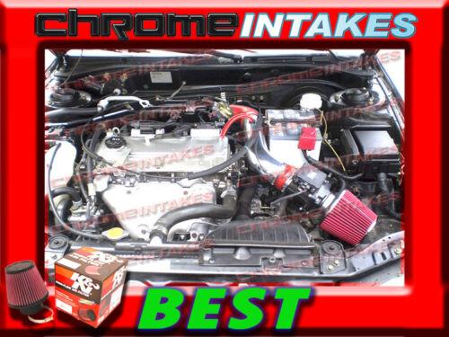 K/&N+RED 00-05 MITSUBISHI ECLIPSE//99-03 GALANT 2.4 2.4L I4//3.0L V6 AIR INTAKE KIT