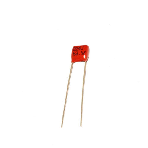 10x CBB Metallized Film Capacitor Kit 63V 224J 220nF 5mm For DIY