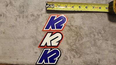 OLD SCHOOL BMX K2 STICKER DECAL DIFFERENT COLORS VINTAGE RARE HARD TO FIND