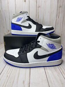 Details about Nike Air Jordan 1 Mid SE Game Royal Black Toe Mens Size 11 Rare 852542 102 New