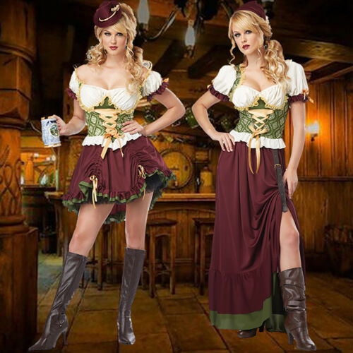 Bayerisches Bier Dienstmädchen Dirndel Oktoberfest Fest Erwachsene Damenmode