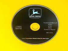 Tm1353 John Deere 405042504450 Tractor Technical Service Manual Repair Book Cd